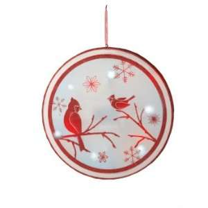 Pack of 2 Lighted LED Winter Cardinal Scene Christmas Hanging Wall Art