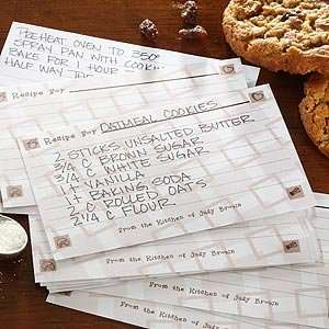 Personalized Recipe Cards   Recipe For A Happy Home