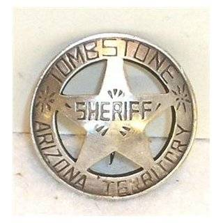 Sheriff Tombstone Arizona Obsolete Old West Police Badge