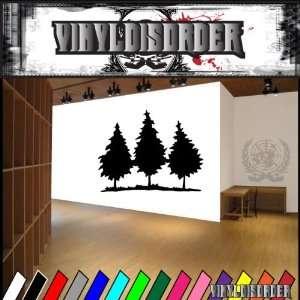 Trees Landscape Tree Line NS015 Vinyl Decal Wall Art Sticker