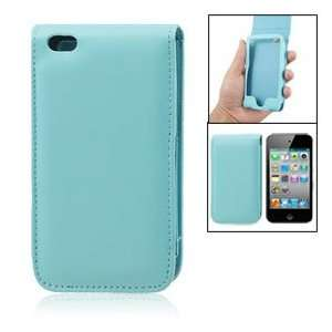 Cyan Faux Leather Case Flip Cover for iPod Touch 4G Cell
