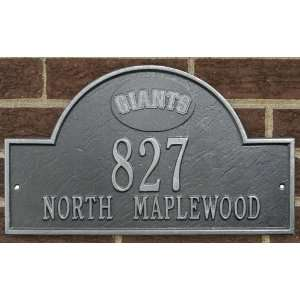 San Francisco Giants Pewter & Silver Personalized Address