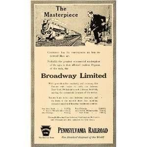 1916 Ad Broadway Limited Pennsylvania Railroad Trains