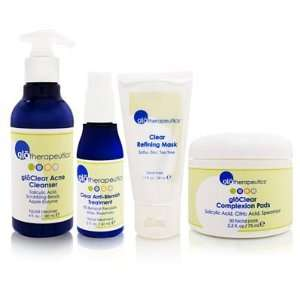 glotherapeutics Clear Skin Kit 4 Piece Kit Beauty