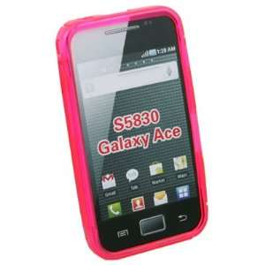Pink TPU Skin Case Cover for Samsung S5830 Galaxy Ace Electronics