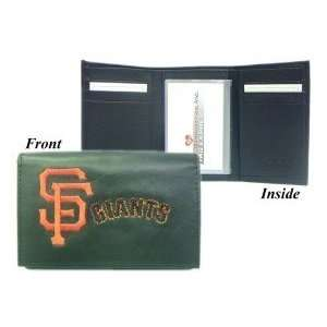 San Francisco Giants Embroidered Leather Tri Fold Wallet