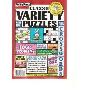 com Penny Press Classic Variety Puzzles (March 2012) Various Books