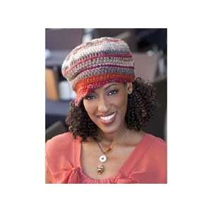 Red Heart Top Stitched Hat Crochet Yarn Kit Arts, Crafts