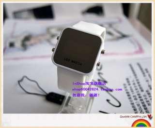 Fashion Sport Mirror Style LED Digital Date Lady Men Wrist Watch 2012