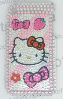 NEW Rhinestone Bling Case For Iphone 3G 3GS Hello Kitty