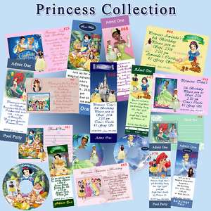 Birthday Invitation Princess Snow White Cinderella Prsz