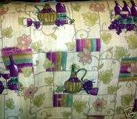 BUNCHES OF GRAPES WINE BOTTLES VALANCE CURTAINS NEW