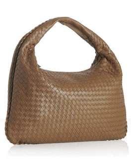 Bottega Veneta brown woven leather large Veneta hobo