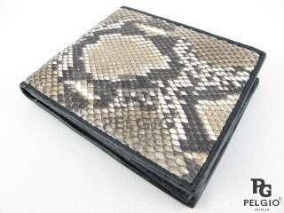 Genuine Python Snake Skin Leather Mens Wallet Natural