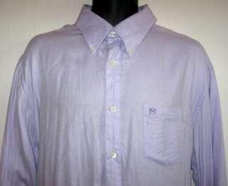 Michael Kors Button Down Cotton Shirt Purple Mens XL