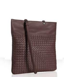 Bottega Veneta brown woven leather crossbody messenger bag