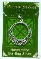 Sterling Celtic Knot design round Pendant