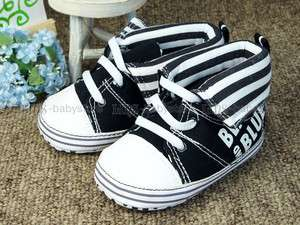 A274 new baby toddler boy black high top shoes UK 2 3 4