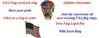 USA Flag Ring Stones Red White or Blue Sz 9 14 Free Pin