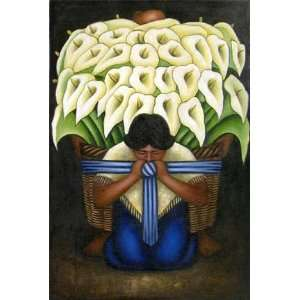 Diego Rivera Art Reproduction Oil Painting   El Vendedor