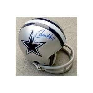 Calvin Hill autographed Dallas Cowboys Mini Helmet