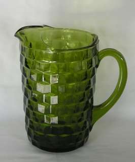 WHITEHALL GREEN WATER PITCHER COLONY GLASS