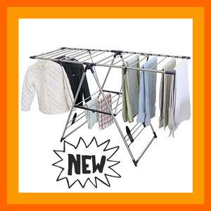 Extra large Fold Away Laundry Drying Rack Clothes