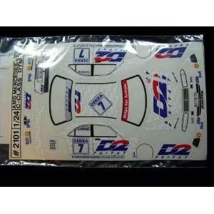 JK   Mercedes C Class Sticker Sheet (Slot Cars) Toys