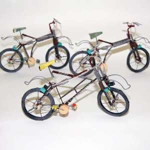 Spring Design Wire Mountain Bike Sculpture  Sports