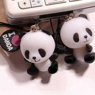 LOVE PANDA Bag Cell Phone iphone Strap Charm,Kid,Party Favor