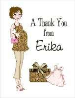 Personalized Classy Mom BABY SHOWER THANK YOU Note Card