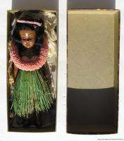 Vintage 1956 with Original Box Hawaii Hula Girl Plastic Doll w Sleep