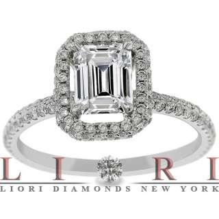 14 CARAT G VS1 EMERALD CUT DIAMOND ENGAGEMENT RING 18K VINTAGE STYLE