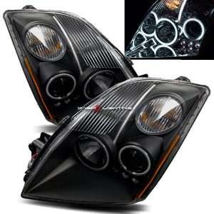 07 10 Nissan Sentra CCFL Halo Projector Headlights   Black Automotive
