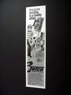 Jetco Treasure Hawk 990 metal detector 1974 print Ad |