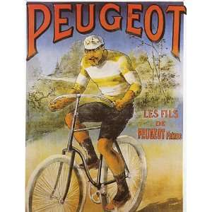 BICYCLE CYCLE BIKE PEUGEOT FRENCH SMALL VINTAGE POSTER