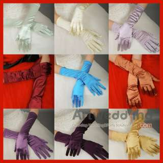 Tulle Fingerless Elbow Wedding Gloves with Beading (ST110051)