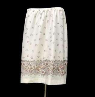 60s Vintage Psychedelic Flower Print Skirt Butterfly Hippie Boho sz XL