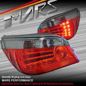 Smoked Red LED Tail Lights BMW E60 03 07 520d 523i 525i 530i 530d 540i