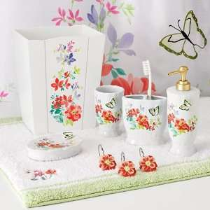 Croft and Barrow Spring Floral Bath Accessories Home