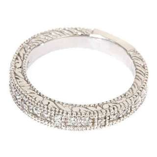25ct Womens Diamond Wedding Band Ring Antique Style 14k White Gold