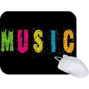 Rikki Knight Rainbow Music Word Mouse Pad Mousepad   Ideal