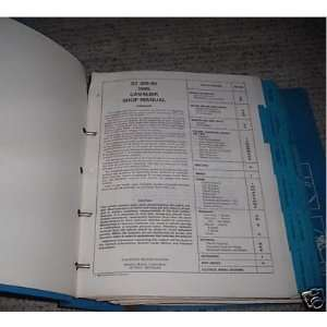 1985 Chevy Chevrolet Cavalier Z24 Service Manual Binder