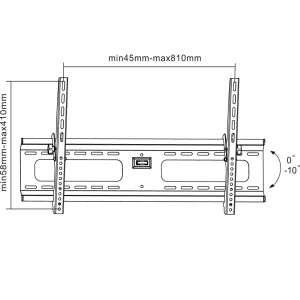 PREMIUM Low Profile TILT Wall Mount for 37 63 inch LED LCD Plasma 3D