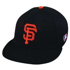 FITTED Md/Lg San Francisco GIANTS Home BLACK Hat Cap