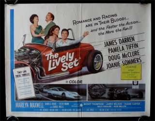 THE LIVELY SET *MOVIE POSTER 1964 CARS RACING HOT ROD