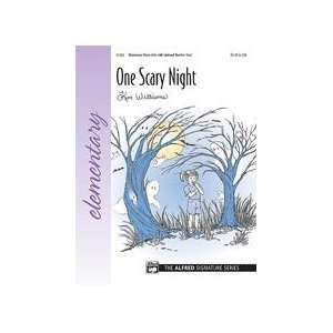 One Scary Night   Piano Solo   Elementary   Sheet Music