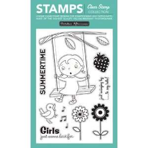 Fly A Kite Clear Stamps 4X6 Sheet Tree Swing Arts, Crafts & Sewing