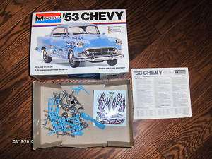 1953 Chevy Chevrolet 1/24 Scale Model Kit 2237 Flames