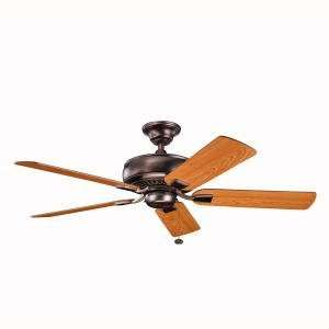 Lighting Saxon Collection Oil Brushed Bronze Finish 52 Inch Saxon Fan